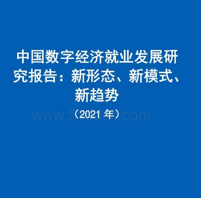 中国数字经济就业发展研究报告|免费下载.pdf