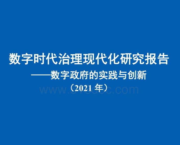 数字政府的实践与创新治理研究报告2021年 免费下载.pdf